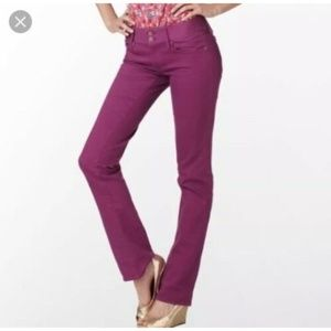 LILLY PULITZER Worth Straight Jeans Purple Size 8